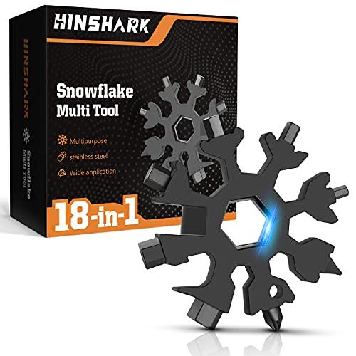 Hinshark Geschenke für Männer - 18-in-1 Schneeflocken...