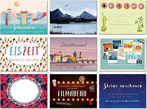 """Gutschein Set mit 12 Postkarten """"Zeit für uns"""" - Ideal..."""