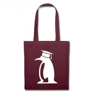Beutel Pinguin mit Doktorhut
