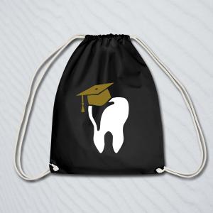 Beutel mit einem Zahn kaufen, der einen Doktorhut auf der Krone hat.
