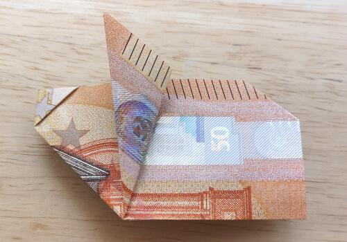Glücksschwein aus 50-Euro-Schein