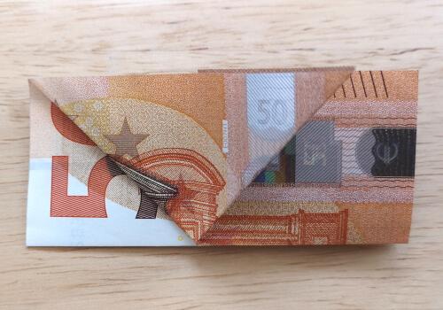 Geldschwein falten