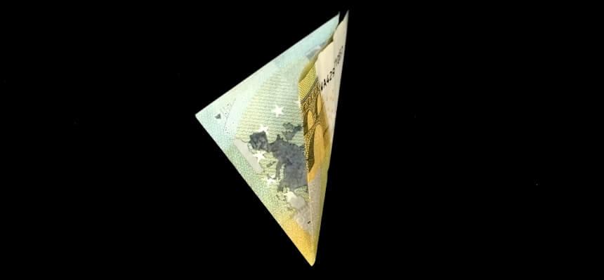 Geldschein falten - Schritt 3