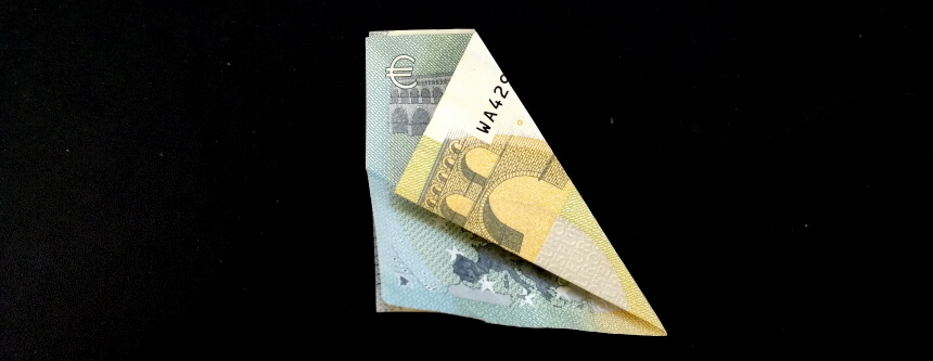Geldschein falten Glücksklee