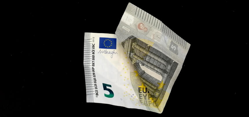 Geldschein falten zum Glücksklee