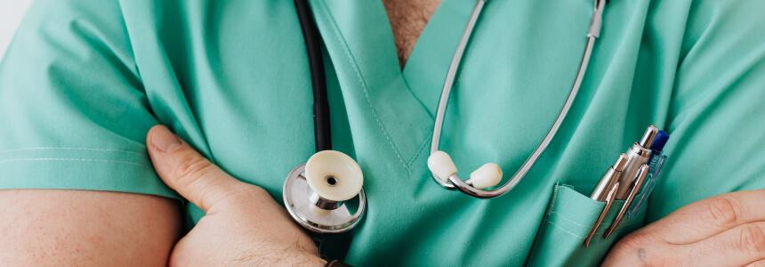 Medizin studieren - Arzt mit Stethoskop