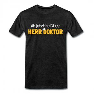 Ab jetzt heißt es Herr Doktor