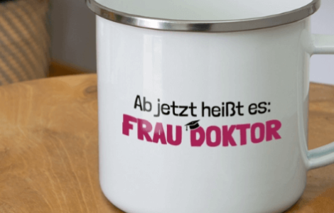 Tasse selbst gestalten - Geschenk zur Promotion